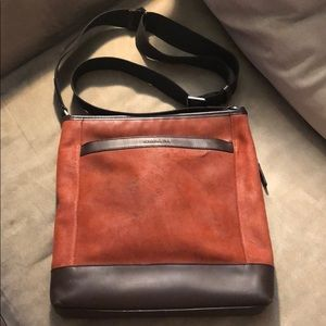 Sweet Coach Murse. Burnt orange suede with leather